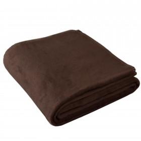 Wohndecke OLE 150x200cm in Braun aus 100% Baumwolle (BIO)