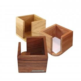CLASSIC Zettelbox 11,5 x 11,5 x 9,5 cm, div. Holzarten