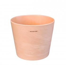 Blumentopf Übertopf Keramik in Terrakotta-Optik Ø 17,5 cm