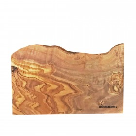 Schneidebrett Olivenholz mit Naturkante rechteckig, ca. 25 x 15  x 1,5 cm
