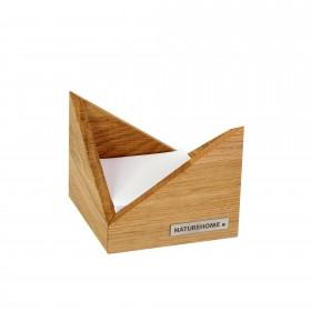 Zettelbox SKRIPT Eiche 9,5 x 9,5 cm