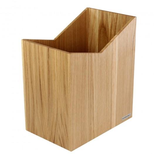 """NATUREHOME Papierkorb """"Skript"""" Eiche 9,5 x 9,5 cm"""