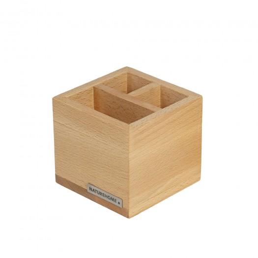 Office Stiftebox Stifteköcher CLASSIC Buchen-Holz