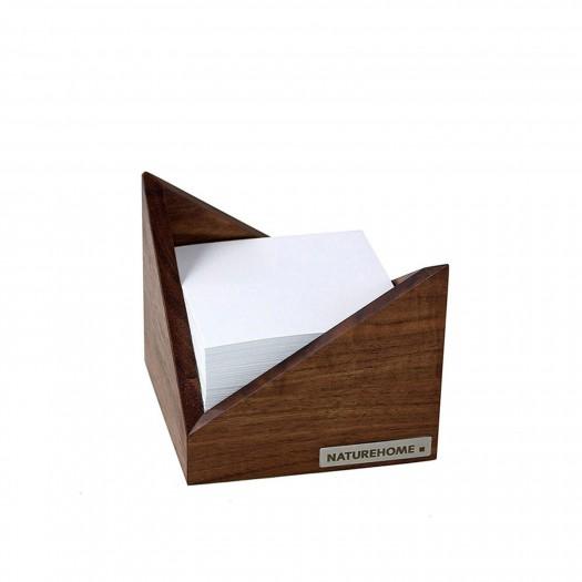 Zettelbox SKRIPT Nussbaum 9,5 x 9,5 cm