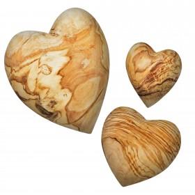 Olivenholz Deko-Herz Handschmeichler verschiedene Größen