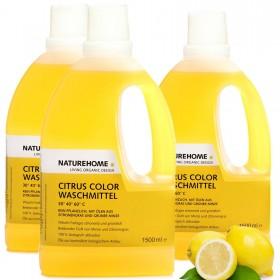 3er Set Bio Waschmittel Citrus Color, 3 x 1,5 L