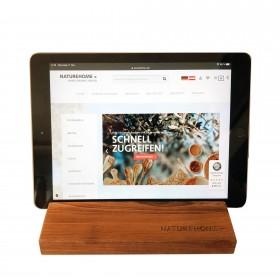 Tablet-Halter Nussbaum Holz 19,5 x 12,5 x 2,5 cm