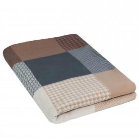 Wohndecke Jacquard 100% Baumwolle (Bio) Design MATEO 140 x 200 cm