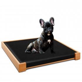 2er Set ALPHA Design-Hundebett Buche 80 x 60 cm + Matratze