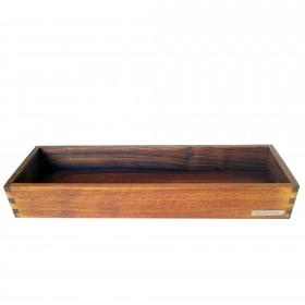 Kerzen-Tablett Nussbaum, 30 x 10 cm