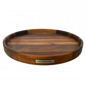 Servier-Tablett rund Nussbaum, 40 cm