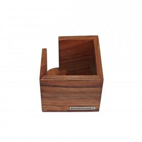 CLASSIC Zettelbox Nussbaum, 11,5 x 11,5 x 9,5 cm