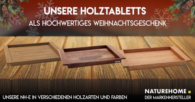 Holztablett Weihnachtsgeschenk Tischdeko