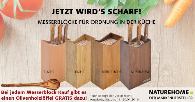 Holz-Messerblöcke von NATUREHOME