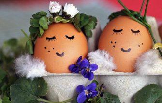 Nachhaltig schenken -Osternest im Eierkarton