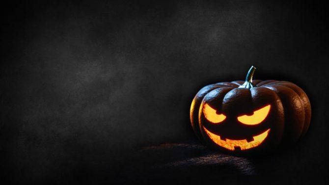 Kürbisgesicht zu Halloween