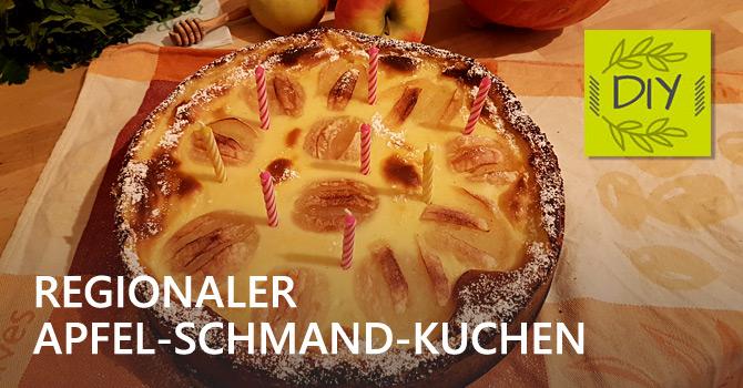 Apfel-Schmand-Geburtstagskuchen