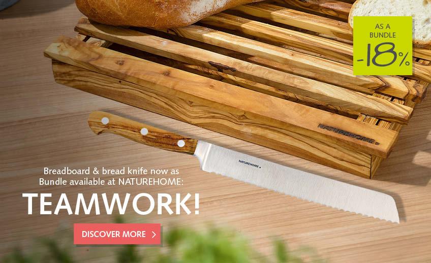bread knife + cutting board