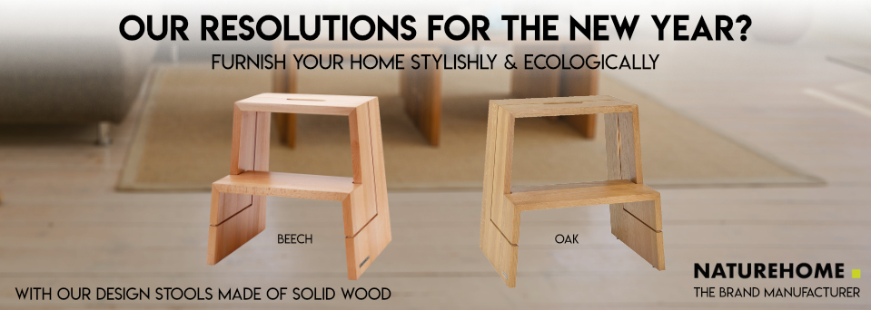 NATUREHOME Wooden Step Stool