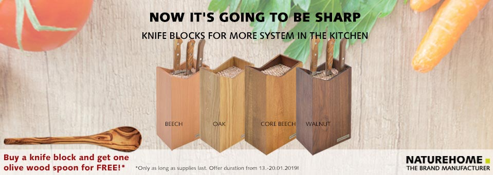 NATUREHOME Wooden Knife Block