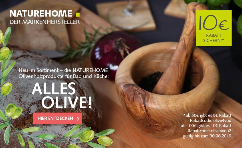 Olivenholz für Bad und Küche