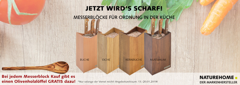 NATUREHOME Holz-Messerblock