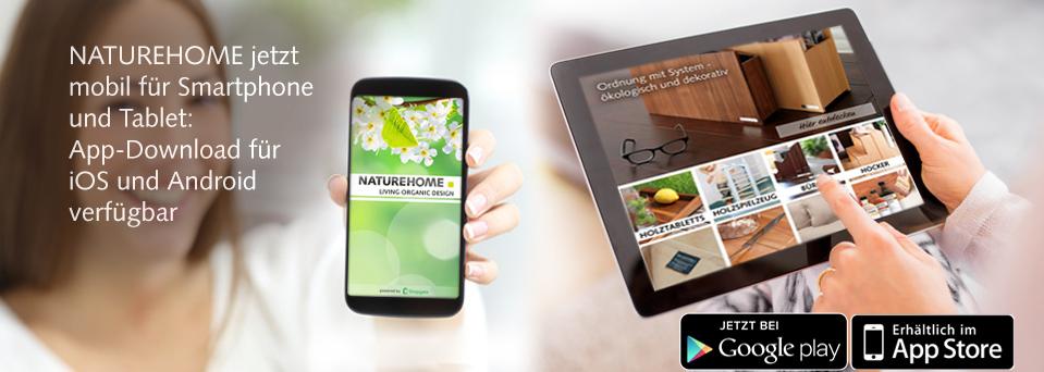NATUREHOME App für iOS und Android