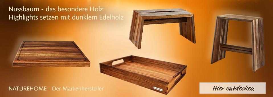 Nussbaumholz-Produkte